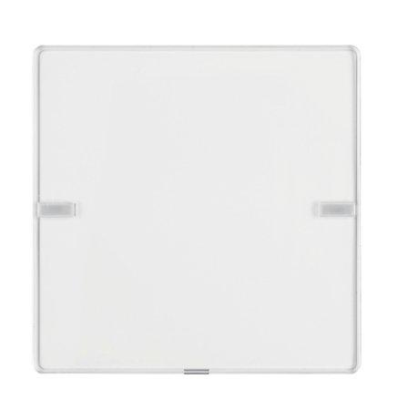 Tastsensor 1fach Komfort mit Beschriftungsfeld KNX Q.x polarweiß samt Hager 80141329