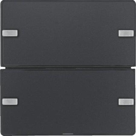 Tastsensor 2fach Komfort mit Beschriftungsfeld KNX Q.x anthrazit samt Hager 80142326