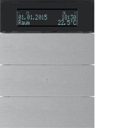 Tastsensor 3fach mit Temperaturregler und Display B.IQ Alu Hager 75663594