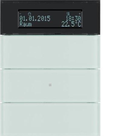 Tastsensor 3fach mit Temperaturregler und Display B.IQ Glas, polarweiß Hager 75663590