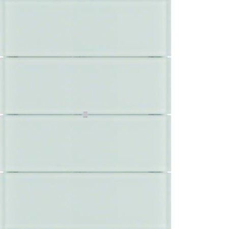 Tastsensor 4fach B.IQ Glas polarweiß Hager 75164590