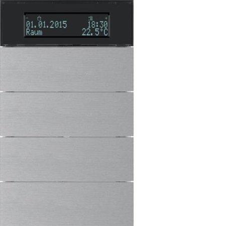 Tastsensor 4fach mit Temperaturregler und Display B.IQ  Alu Hager 75664594