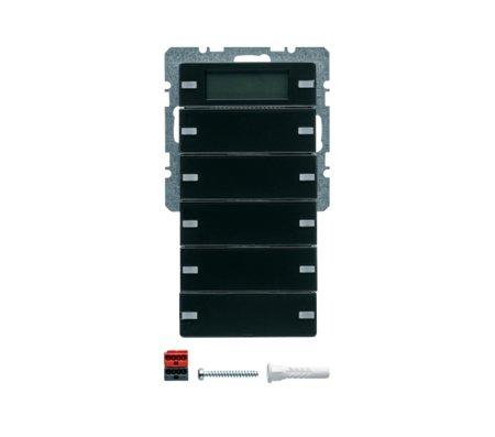 Tastsensor 5fach mit Beschriftungsfeldern RTR Display Q.1/Q.3 anthrazit samt Hager 75665726