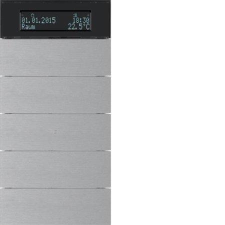 Tastsensor 5fach mit Temperaturregler und Display B.IQ Alu Hager 75665594