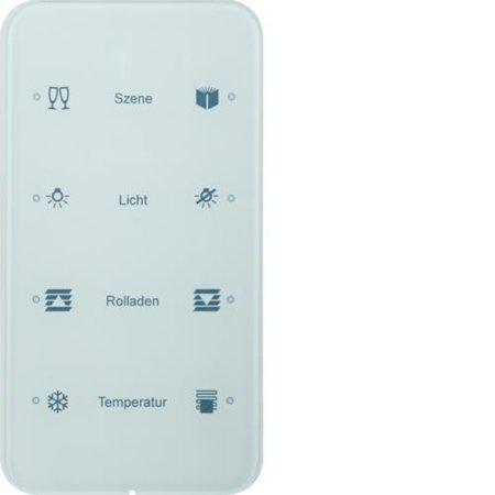 Touch-Sensor 4fach Komfort R.1 Glas konfiguriert polarweiß Hager 75144160