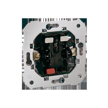 Treppenschalter- Einsatz 1-polig mit roter Linse 10AX Kontakt Simon 82 75204-39