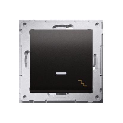 Treppenschalter (Modul) mit Aufdruck LED Anthrazit matt Kontakt Simon 54 Premium DW6AL.01/48