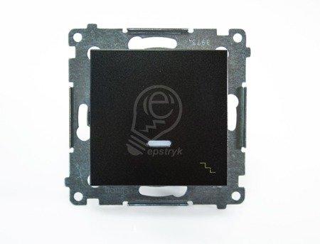 Treppenschalter (Modul) mit Aufdruck und Beleuchtung anthrazit Kontakt Simon 54 Premium DW6L.01/48