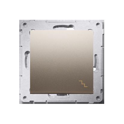 Treppenschalter (Modul) mit Aufdruck und Gold matt Kontakt Simon 54 Premium DW6A.01/44
