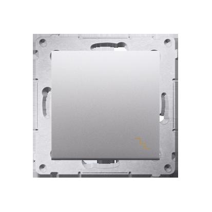 Treppenschalter (Modul) mit Aufdruck und Silber matt Kontakt Simon 54 Premium DW6A.01/43