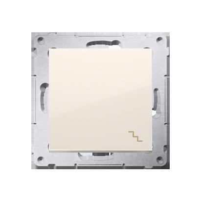 Treppenschalter (Modul) mit Aufdruck und cremeweiß matt Kontakt Simon 54 Premium DW6A.01/41