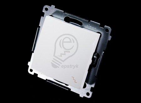 Treppenschalter (Modul) mit Aufdruck und weiß Kontakt Simon 54 Premium DW6A.01/11