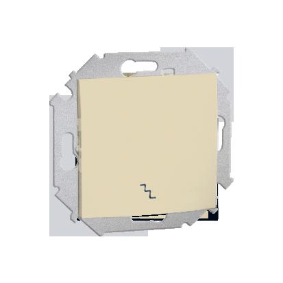 Treppenschalter (Modul) mit Schraubklemmen beige glänzend