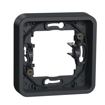 Unterputzrahmen 1fach IP55 mit Krallen zur Montage anthrazit Mureva Styl Schneider Electric MUR34108