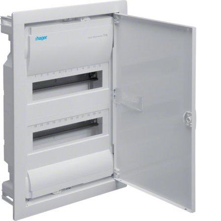 Volta Unterputz-Schaltgerät 2-reihig, 24-Modul, Schutzklasse II, IP30 VU24AT Quick Connect Hager