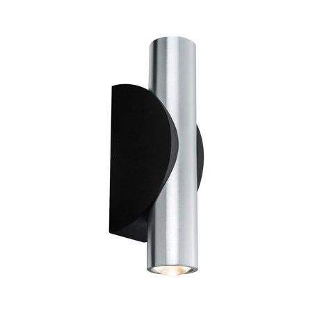 Wandleuchten Strahler ABL 2Flame LED 2x3,2W 2700K IP44 Schwarz Aluminium