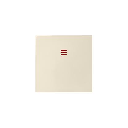 Wippe 1fach für Schalter/ Taster mit Beleuchtung beige matt Kontakt Simon 82 82033-31