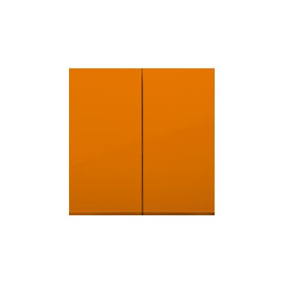 Wippe 2fach für Schalter/ Taster orange glänzend Simon 54 Premium Kontakt Simon  DKW5/32