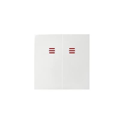 Wippen 2fach für Schalter/ Taster mit Beleuchtung weiß glänzend Kontakt Simon 82025-30