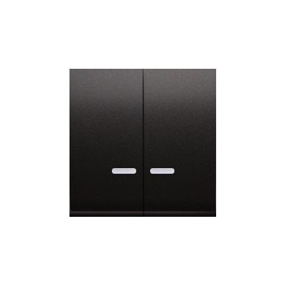 Wippen für Schalter/Taster 2fach mit roter Linse anthrazit matt Kontakt Simon 54 Premium DKW5L/48