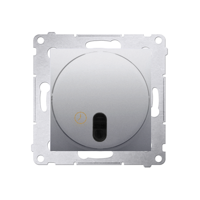 Zeitschalter (Modul) mit Ausschaltverzögerung silber matt Kontakt Simon 54 Premium DWC10P.01/43